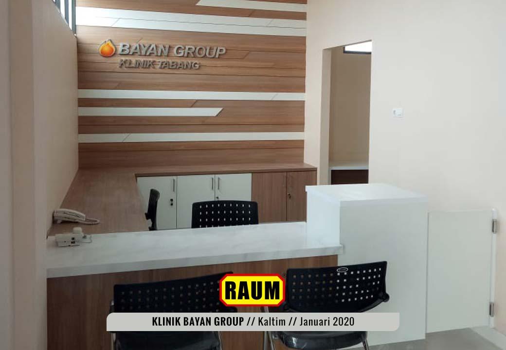 01 Klinik PT. Fajar Sakti Prima - Bayan Group Tabang - KalTim Januari 2020 Interior Asri