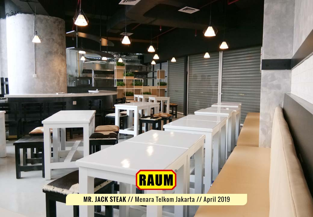 02 Mr. Jack Steak by Interior Asri - Resto Menara Telkom Jakarta - April 2019