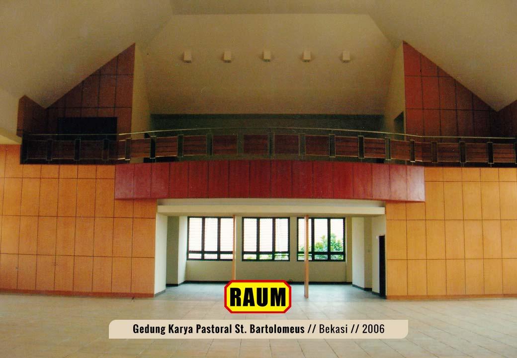 01 Gedung Karya Pastoral St. Bartolomeus - interior asri by RAUM