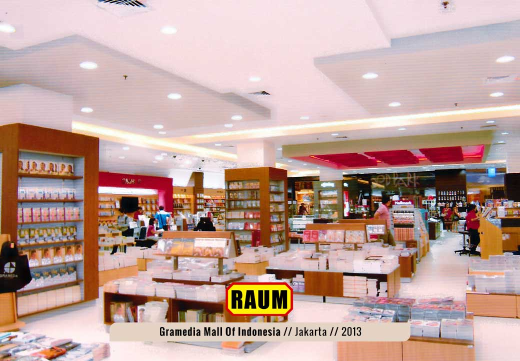 02 Toko Buku Gramedia Mall Of Indonesia - interior asri by raum