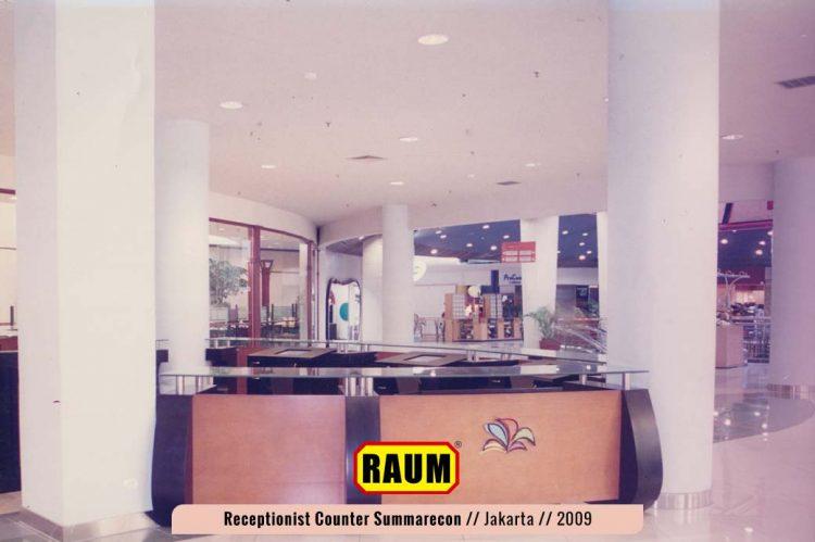 receptionist counter mall kelapa gading summarecon - interior asri by raum